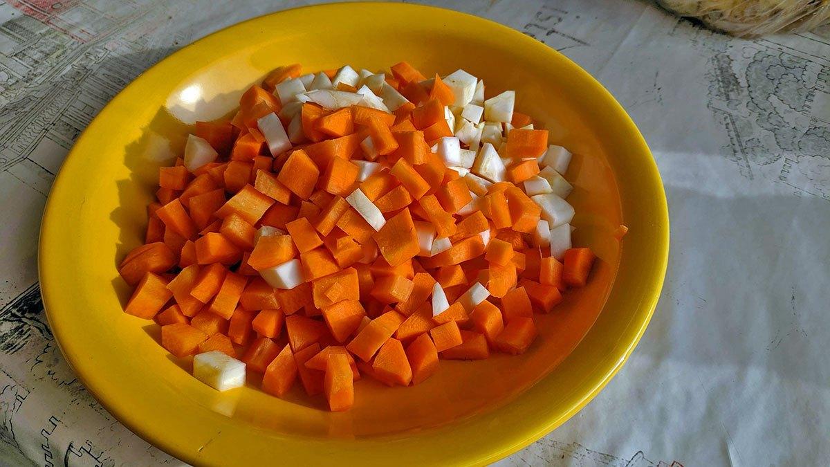 Моркови и целина